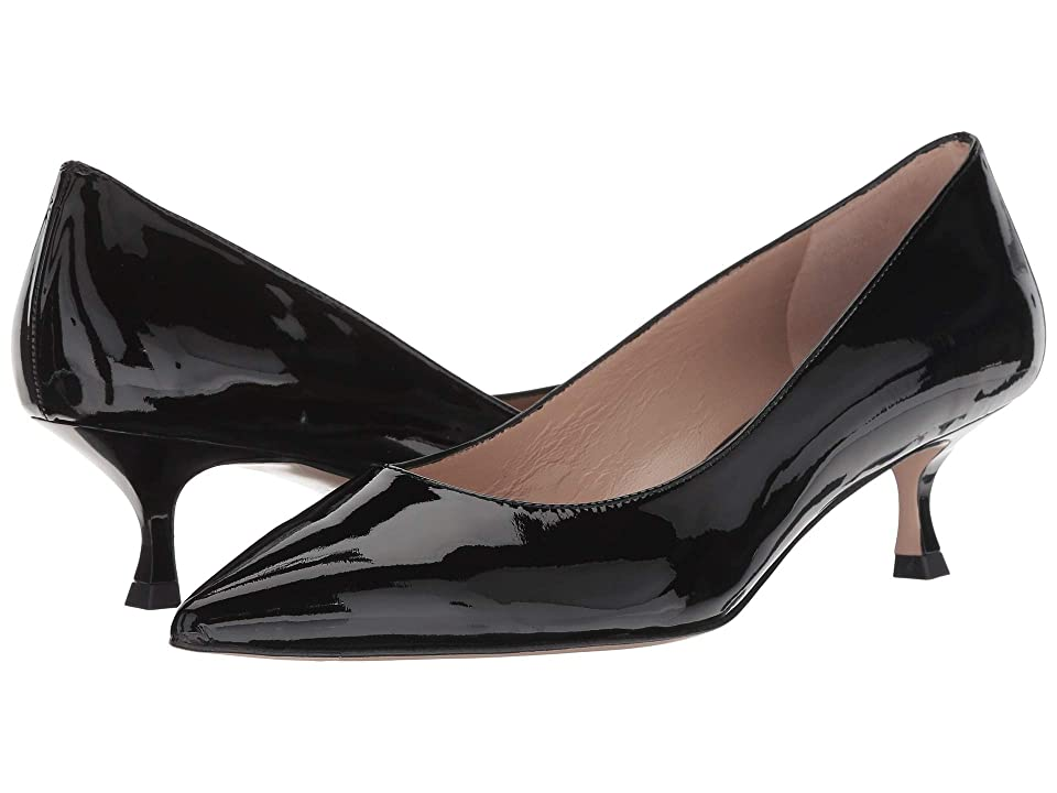 Pin Up Shoes- Heels, Pumps & Flats Stuart Weitzman Tippi 45 Black Cristal Womens Shoes $385.00 AT vintagedancer.com
