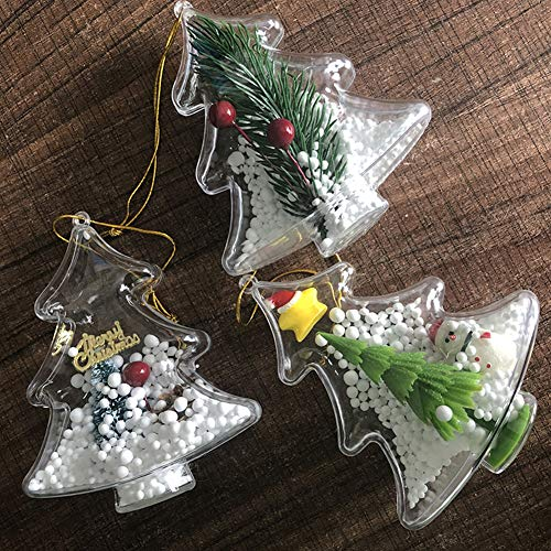 RONSHIN kerstboom vorm transparante holle doos ornament opknoping hanger
