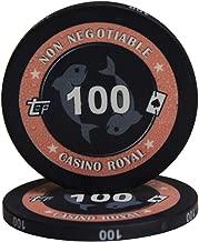 Zhou Yunshan Uego de póker de Casino Poker Club de cerámica Mahjong Sala de ajedrez Juego de Casino Chip de la Tarjeta de la Moneda del Conjunto de Sistema Valor Nominal 20 (100)
