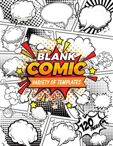 Blank Comic Book: Draw Your Own Comics - blank comic book for kids with...