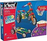 K'NEX 34388 - STEM Explorations Building Set Vehicles, Baukasten Fahrzeuge mit 131 Teilen und 2 Motoren, Konstruktionsset für 5 Modelle, Bau- und Konstruktionsspielzeug Set für Kinder ab 8+ Jahre