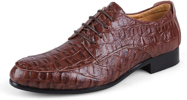 LXJL Cowhide Herren Business Casual Schuhe Spitzen Big Code Krokodil Lederschuhe 36-50,d,36  | Maßstab ist der Grundstein, Qualität ist Säulenbalken, Preis ist Leiter