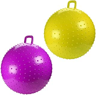 Kicko Bouncy Knobby Ball with Handles 36 Inches - 2 Pack - for Teens and Adults - Assorted Colors, Colors May Vary, Sold D...