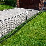 Cricket Ball Stop Net | Backyard Backstop Netting [20m x 1m Post and Net Package]