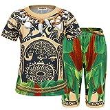 AmzBarley Schlafanzug für Jungen Moana Maui Kostum Kinder Nachthemd Jungen Schlafanzuge Pyjama Nachtwasche Halloween Cosplay Set, Schlafanzuge 003, 3-4 Jahre