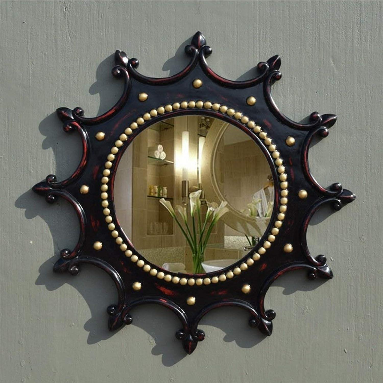 XIUXIU Mirror Nordic Minimalist Black Retro Wall Hanging Decorative Mirror High List Bathroom Waterproof Makeup Mirror