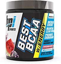 BPI Sports Best BCAA with Energy - Healthy BCAA Powder - Improved Performance - Lean Muscle Building - Accelerated Recovery - Proprietary Energy Blend - Watermelon Ice - 25 Servings - 8.8 oz.