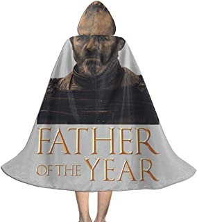 Fathers Day Collection Father of The Year Stannis Baratheon Game of Thrones Unisex Hooded Cloak Cape Halloween Party Decoration Role Cosplay Costumes Black