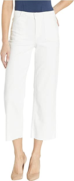 Nellie Jeans w/ Utility Pocket + Raw Hem in Crisp White