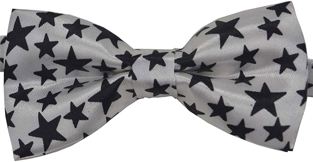 SYAYA Boy's Pre-Bow Tie Polyester White Spot Bow Tie One Size CLJ231