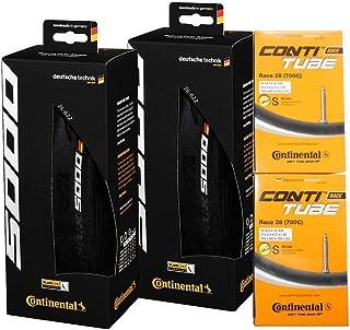 タイヤとチューブ2本セット Continental(コンチネンタル) GRAND PRIX 5000 グランプリ5000 [並行輸入品] (700x25c-仏式42mm)