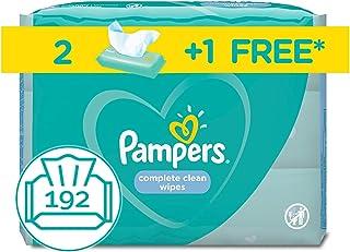 مناديل بامبرز المبللة للاطفال، نظيفة ومنعشة، 2+1، 192 منديل
