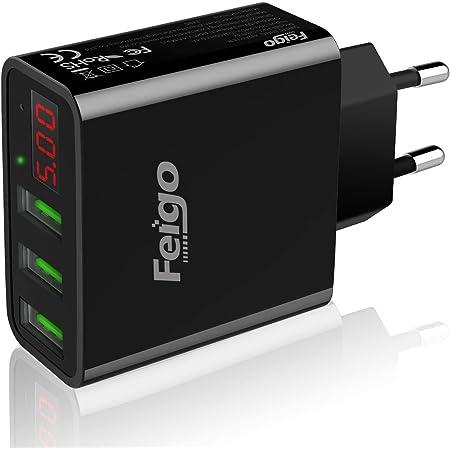 Feigo Quick Charger 3 Port Usb Ladegerät 30w Mit Led Elektronik