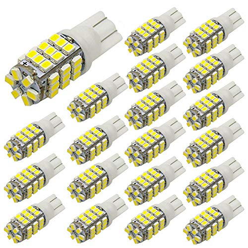 PESIC 20x T10 921 192 194 Wedge RV Trailer 42-SMD LED Cool White Car Backup Reverse Interior Light Bulbs