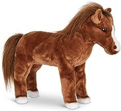 Bearington Blaze Plush Stuffed Animal Brown Horse 13.5 inches