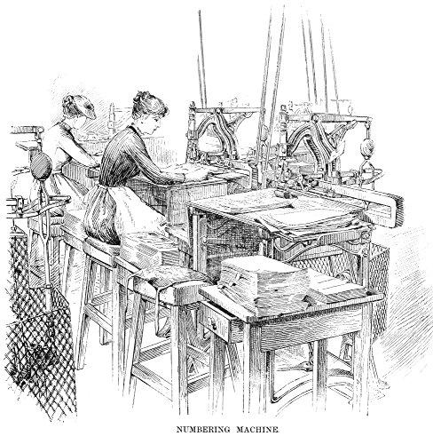 Bank Note Printing Press Nnumbering Machine At The Bureau Of Engraving And Printing Washington DC Line Engraving 1890 Poster Print by (24 x 36) Bureau Engraving Washington Dc
