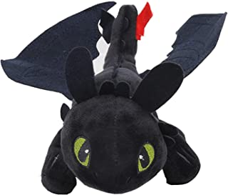 HitHopKing How to Train Your Toothless Plush Night Fury Plush Stuffed Animal Doll Toys Children Gift (23cm)