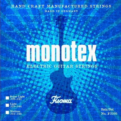 Satz FISOMA MONOTEX E-Gitarrensaiten Super Light
