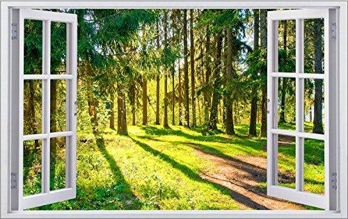 Wald Bäume Natur Wandtattoo Wandsticker Wandaufkleber F1173 Größe 70 cm x 110 cm