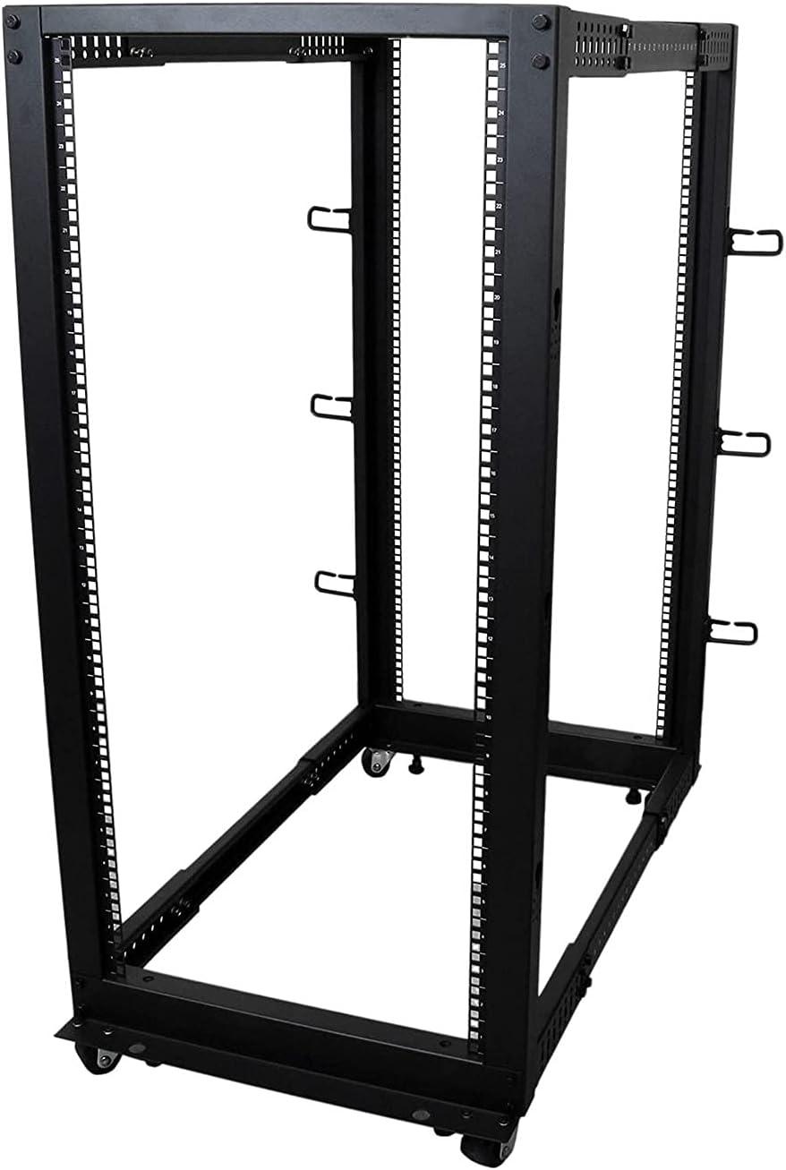 25U Open Rack Server Rack-4 Post Adjustable Depth (22