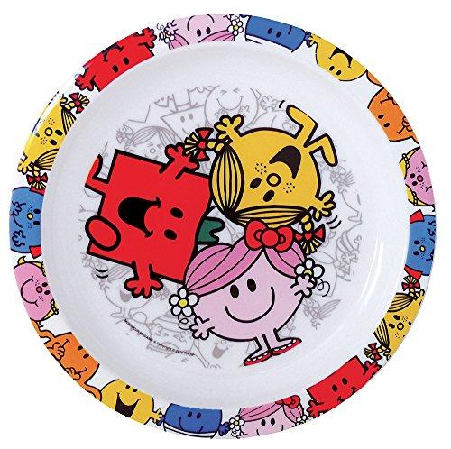 FUN HOUSE 005182 Monsieur Madame Assiette Micro-ondable pour Enfant, Polypropylène, Rose, 22 x 22 x 1 cm