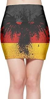 Mini Short Skirt German Flag Eagle Waist Pencil Midi Skirt