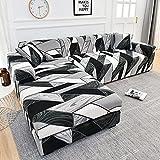 WXQY Fundas Estampadas a Cuadros Funda de sofá elástica elástica protección para Mascotas Funda de sofá Esquina en Forma de L Funda de sofá con Todo Incluido A21 1 Plaza