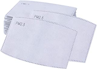 20Pcs PM2.5 Activated Carbon Filter Replacements,Anti Haze 5 Layers Breathing Filter Insert Paper Pad for Mouth Cover