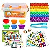 Evira Juguete de Aprendizaje Temprano Contar Montessori Conteo De Juguetes pequeños Educativos 3 4...