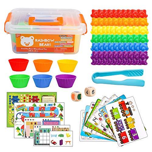 Montessori Spielzeug Für Kleinkinder, Mathe Spielzeug für 3 4 5 Jahre Alte Jungen Kinder Lernressourcen für 3 Jahre Alte Mädchen Kleinkind Geschenk für 2-6 Jahre Junge Mädchen Kleinkinder Kinder