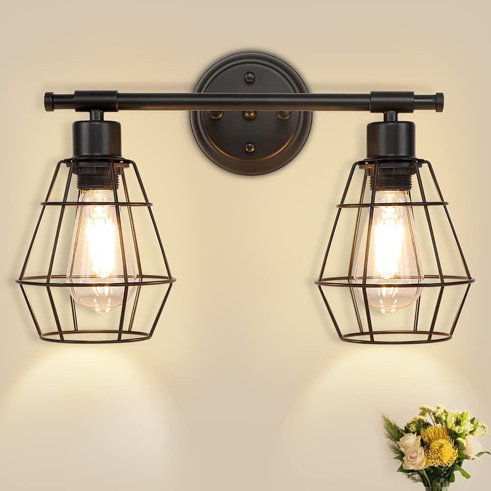Depuley 2-Light Industrial Wall Fashion Vanity Farmhouse Fixture Light Fixed price for sale
