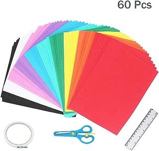 60 Pcs EVA Foam Handicraft Sheets (10.5