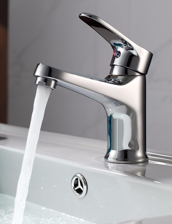 ETERNAL QUALITY Bad Waschbecken Wasserhahn Küche Waschbecken Wasserhahn Heie Und Kalte Einhand-Einlochmontage über Aufsatzbecken Aus Kupfer Waschtischmischer BEG1053