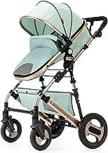 SHJMANST Seguridad Calesa Plegable, Portátil Silla de Paseo Carrito de Bebé Plegable Anti Choque Vista Alta Carro Infantil, Cinturón de Seguridad de Cinco Puntos Silla