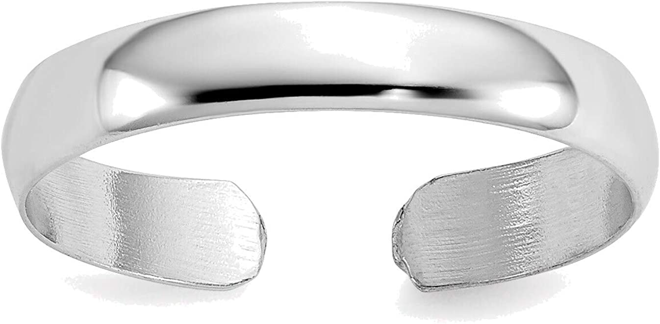 Bonyak Jewelry 14kt White Gold Toe Ring in Size 11