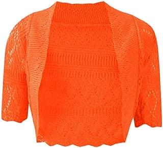RM Fashions Women's Plus Size Knitted Bolero Crochet Cardigan Shrug (SM-4XL)