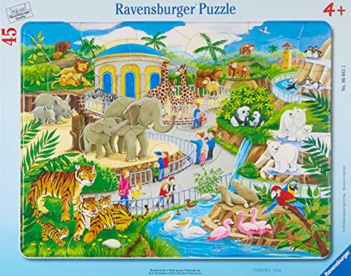 Ravensburger Kinderpuzzle 06661 - Besuch im Zoo - Rahmenpuzzle