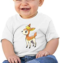 MWHprint Short Sleeved Undershirt - Black Cotton Tee for Boys and Girls,Deerling Autumn