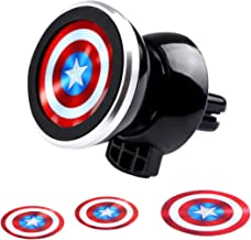 Magnetic Car Mount,Evermarket Universal Air Vent Magnetic Car Mount Phone Holder,360° Adjustable Holder for Smartphone GPS or Light Tablet with Fast Swift-Snap Technology,Captain America