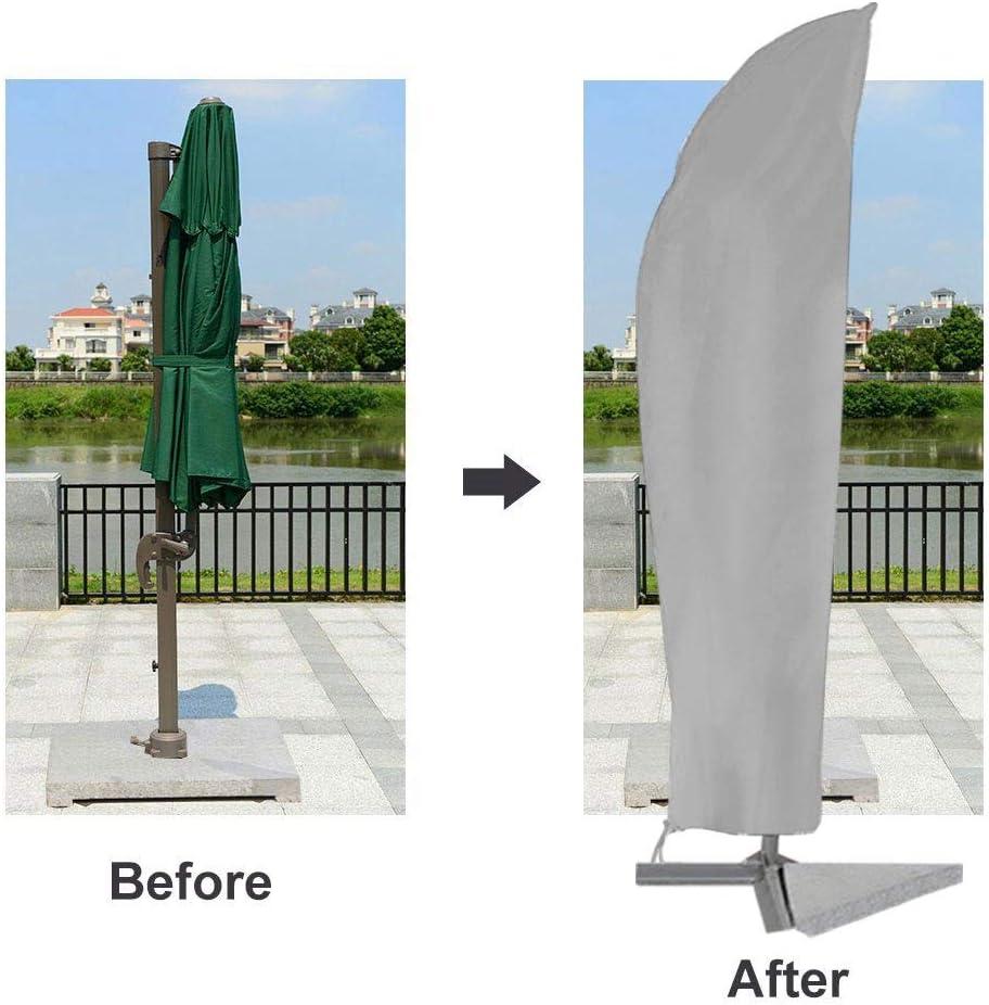 Beige Jingyi Housse de Protection Parasol de Jardin ext/érieur Housse de Protection pour Parasol Housse de Protection pour Parasol Housse de Protection pour Parasol de Jardin