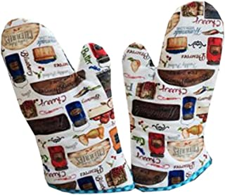 Dragon Troops Heat Resistant Kitchen Oven Mitts (Set of 2) for BBQ/Cooking/Baking/Grilling,#C