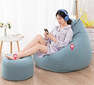 MUHONG Gaming Beanbag Seat Lounger Outdoor Gaming Bean Bag Lounger Chair And Footstool Lounge Chair 100 90Cm 39 4 35 4 Inches  E 100cm 90cm 90cm