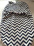 BabyKiss Super Soft Blue and White Geo Design Swaddle Blanket