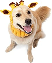 Zoo Snoods Giraffe Dog Costume - Neck and Ear Warmer Headband for Pets