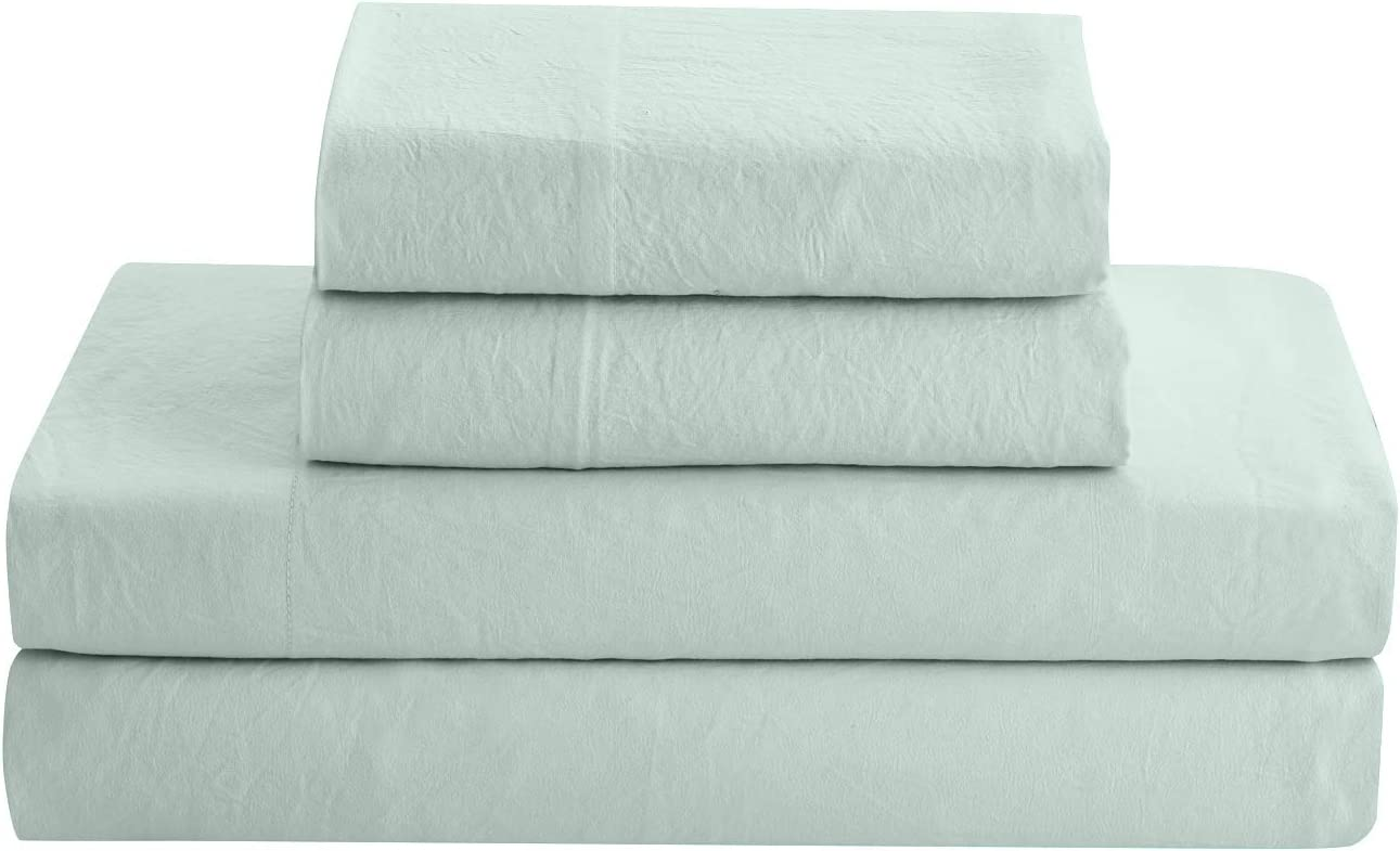 Prewashed Crinkle Sheet Set - Soft Microfiber Extra Max 62% OFF Selling and selling Style Linen