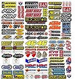 MAS DI VITALE MARIA ditta individuale Pegatinas Moto Patrocinadores 113 Pcs Sticker Gráficos motocrós MTB Ordenador Vespa Kit Modelo Vinyl Brillo Paquete de Marcas Famosas (73x67 cm)