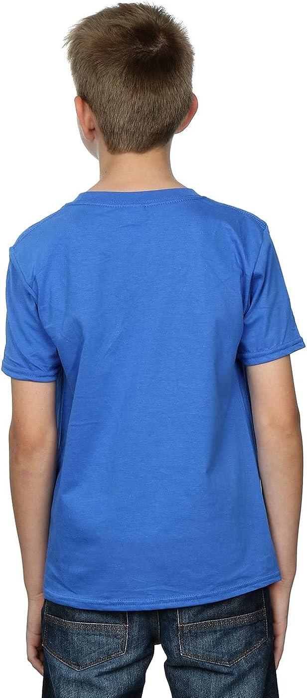 STAR WARS Boys Christmas Death Star T-Shirt 7-8 Years Royal Blue