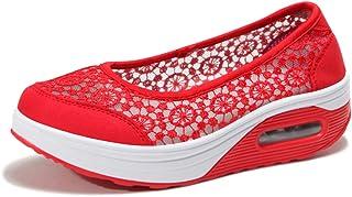 Kimily-UK Femme Ballerines Loafers Léger Chaussures Mailles Baskets Mode Respirantes de Plein Air Chaussure de Course pour...