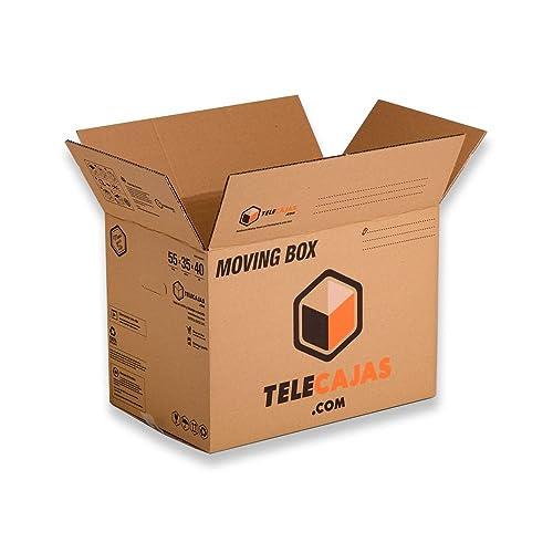 Cajas de cartón tamaño Estándar Mudanzas Doble Pared Asas EXTRAFUERTES TeleCajas X10TCM (x10) Lote