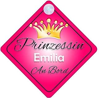 Baby on Board Pr/äsentieren Autoschild /… Kind Geschenk Prinz Diego An Bord mit Krone Personalisierte Autokennzeichen Neues Baby Junge